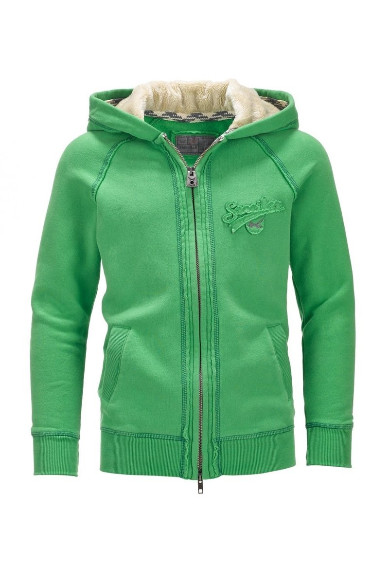 Kinder Sweatjacke WELLNESS 0213, Green, Gr. 152/158