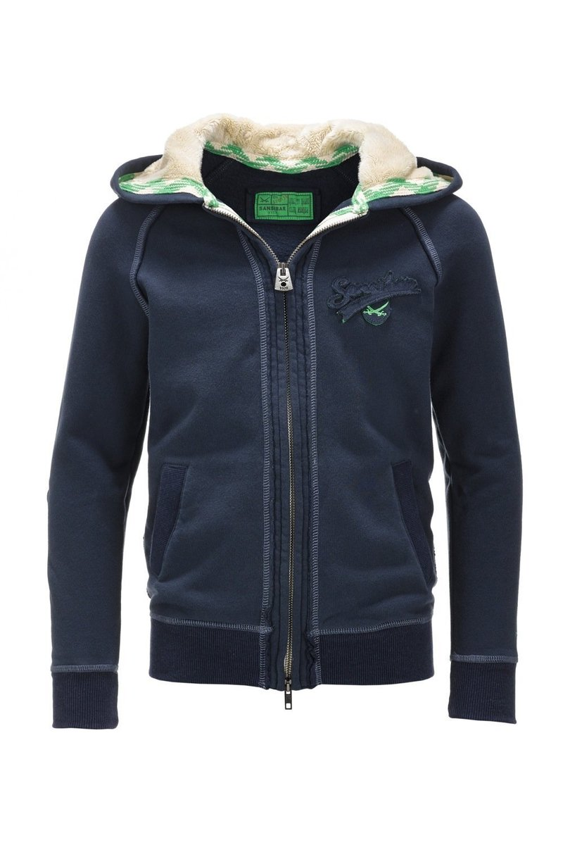 Kinder Sweatjacke WELLNESS 0213, Navy, Gr. 152/158