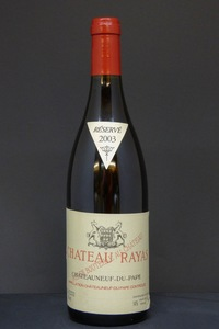2003 Chateau Rayas Reserve Chateaneuf du Pape 0,75l