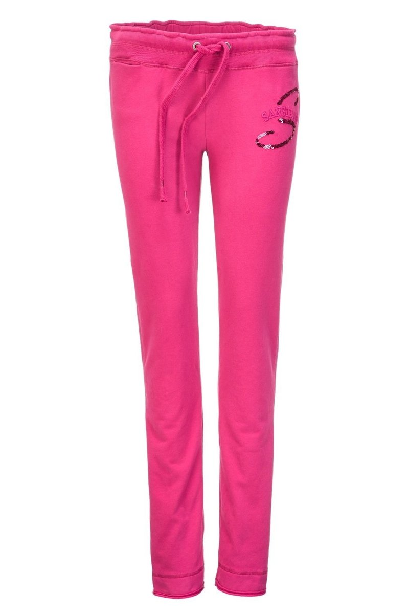 Damen Sweathose Slim WELLNESS 0213, Fuchsia, Gr. S