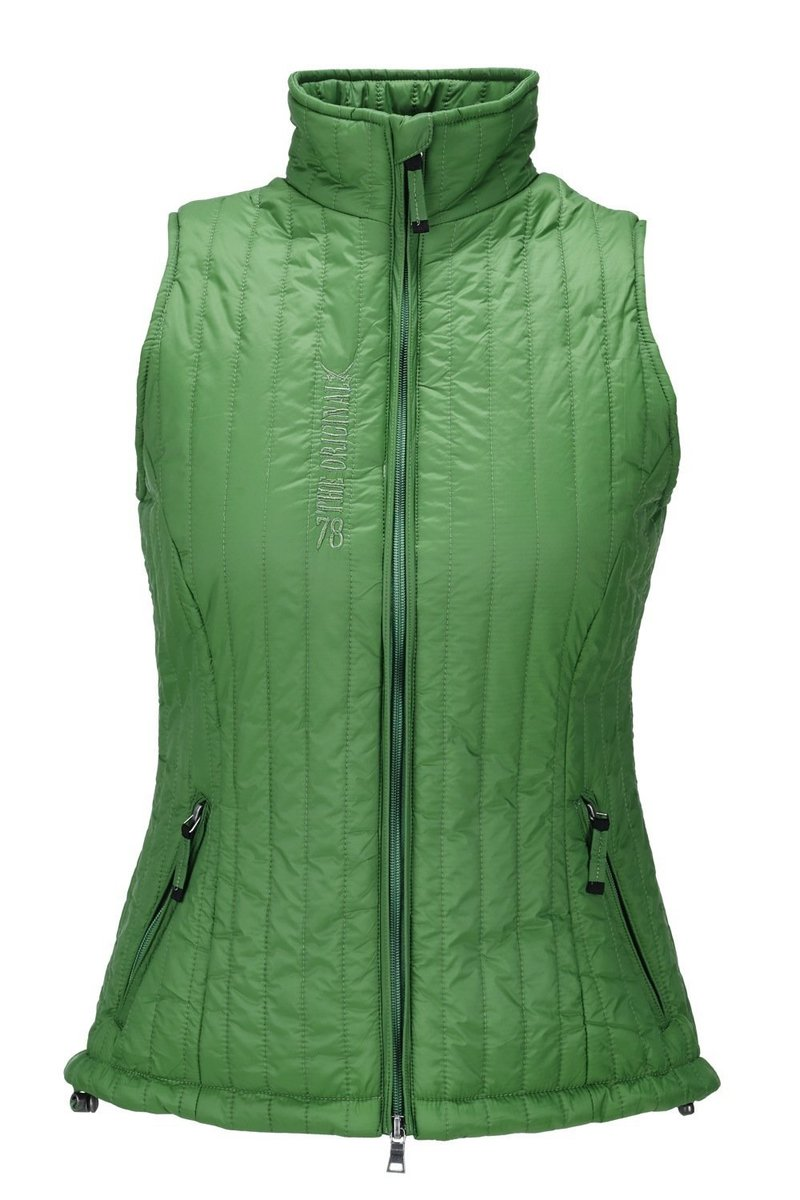 Damen Weste Ton in Ton , Green, Gr. XL