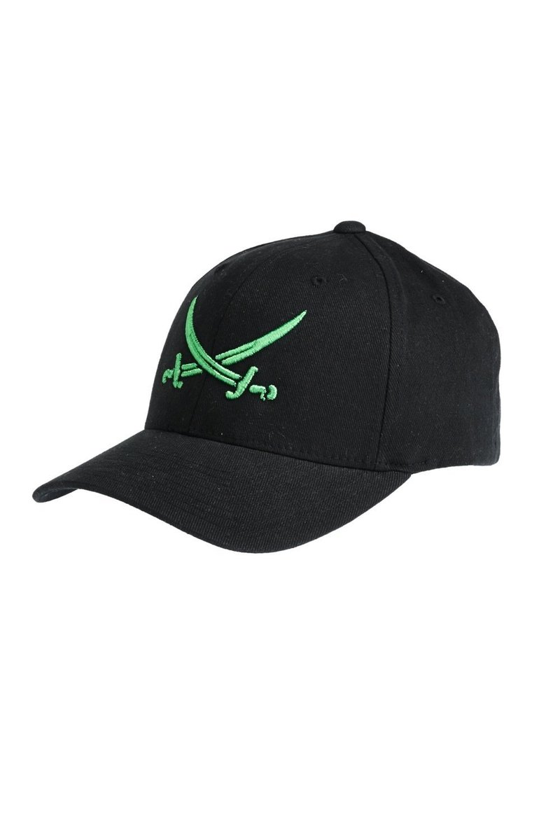 Cap 3D Stick , Black/ green , Gr. S/M L/XL