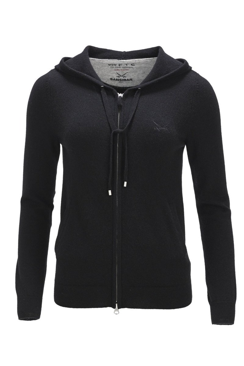 FTC Damen Kapuzenjacke Lederpatches, Black, Gr. XL