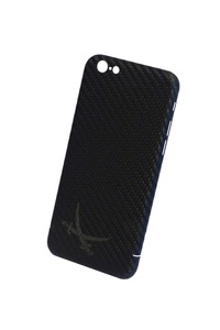 Iphone 6s Plus Carbon Hülle/Cover schwarz mit Logo anthrazit