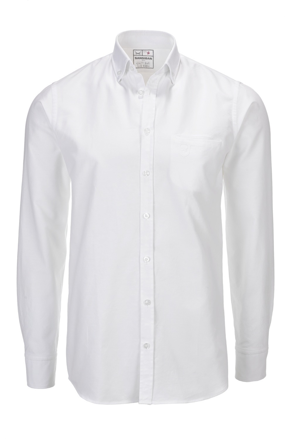 Herren Hemd OXFORD slim fit, White, Gr. S