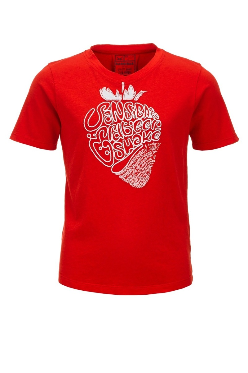 Kinder T-Shirt STRAWBERRY, Red, Gr. 152/158