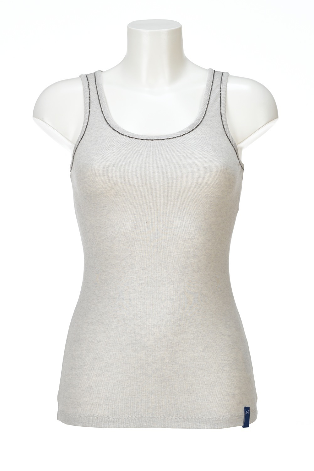 Damen Top CHAIN, Silvermelange, Gr. XS