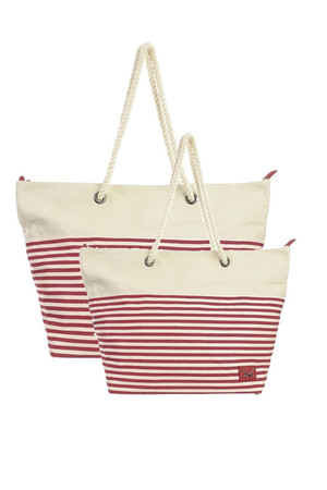 SB-1365-019 Beach Bag small , one size, RED