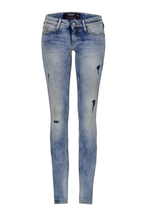Damen Jeans Kea Skinny 6588_5636_529, Light stone used printed, Gr. 31/34