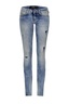 Damen Jeans Kea Skinny 6588_5636_529, Light stone used printed, Gr. 24/32